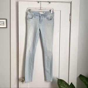 Paper Denim & Cloth Faded Blue Skinny Jeans